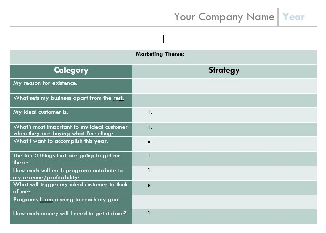 12-months marketing plan template to help you plan your marketing efforts for 2020
